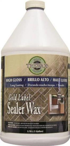Trewax Floor Wax, 1 Gallon, High Gloss