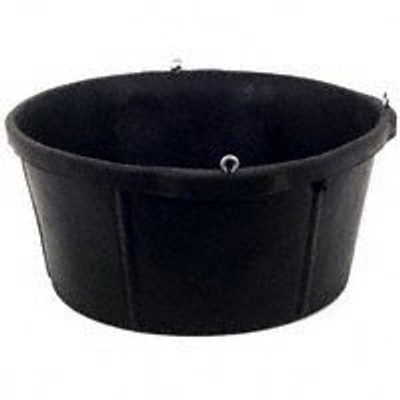 Rubber Feeder Pan,  6.5 Gallon, With Eye Screws