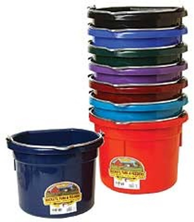 Flat Back Bucket, 8 Quart, Burgandy