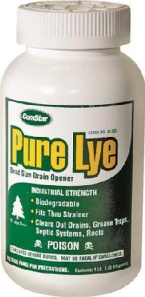 Pure Lye Bead Size Drain Opener, 1 Lb