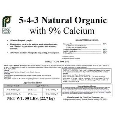 Organic Fertilizer 5-4-3, 50 L