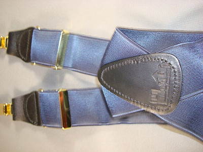 Hold Up Formal Wear Series, SATIN BLUE, Gold Clips