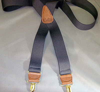 """Hold Up Casual Series, 1-1/2"""" Wide, BLACK, Gold Clips"""