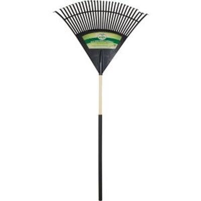 """Rake, Lawn/Leaf, 26 Tine, 48"""", Wood Handle Plastic Head"""