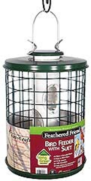 Feathered Friend, Caged Bird Feeder With EZ Clean Base