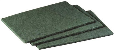 Scouring Pad, 9 in L x 6 in W, 3/4 in T, Green