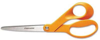 """Fiskars, 8"""" Stainless Steel Bent Shears"""