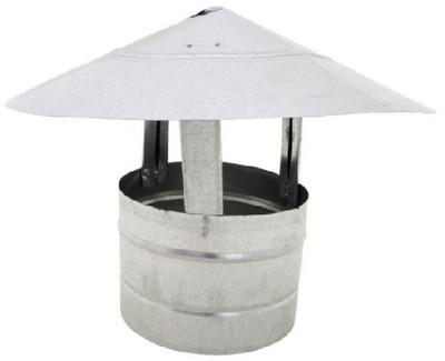 """Stove Pipe, Galvanized, Roof Cap 6"""""""