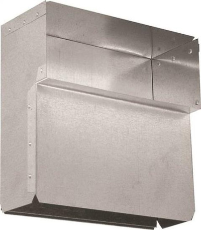 "Rectangular Duct, 3-1/4"" x 10"", Wall Stack Baseboard"