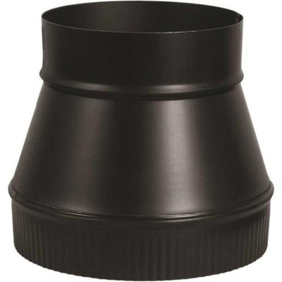 "Stove Pipe, Black, Increaser, 5"" x 6"", 24 Ga"