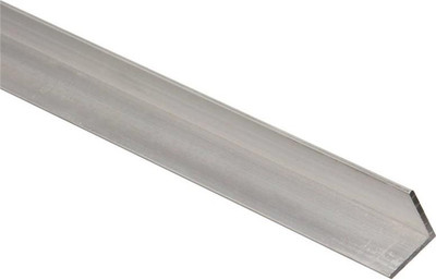"Aluminum Angle, 3/4"" x 1/16"" x 72"", Mill Finish"