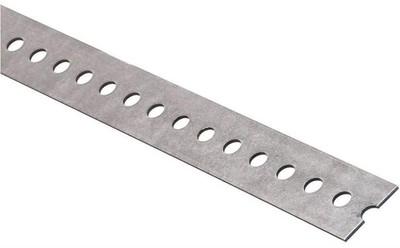 "Steel Flat Bar With Slots, 1-3/8"" x 48"" x 14 ga, Galv"
