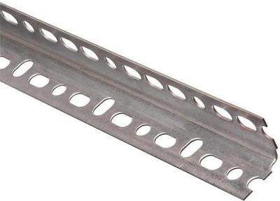 "Steel Angle With Slots, 1-1/4"" x 48"", 18 Ga"