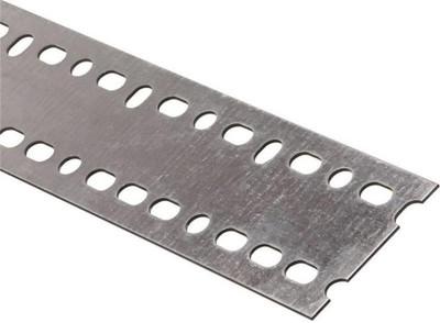 """Steel Flat Bar With Slots, 2-3/16"""" x 48"""" x 14 Ga"""