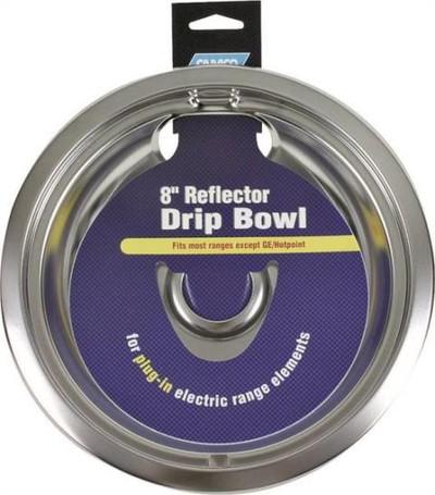 "Electric Range, Reflector Drip Bowel, 8"", Chrome"