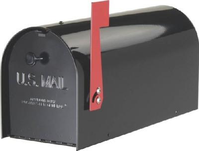 Rural Mailbox, Heavy Duty, Black