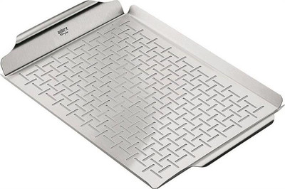 "Grill Pan, Stanless Steel, 12"" x 17-3/8"""
