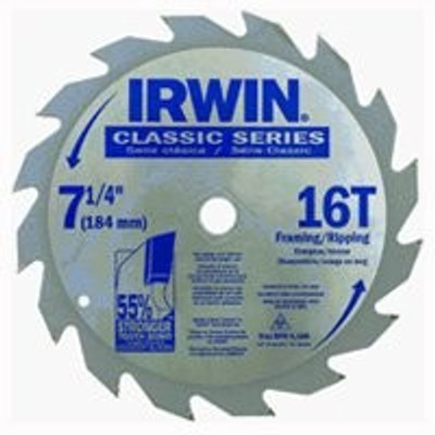 "Carbide Circular Saw Blade, 7-1/4"", 16 Tooth"