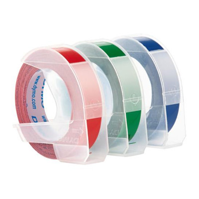 "Dymo Embossing Tape Asst 3 Pk 3/8"" Wide x 9.8'"