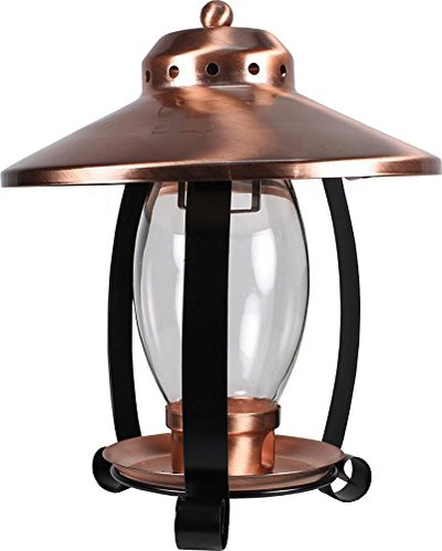 Lantern Bird Feeder, Copper & Glass