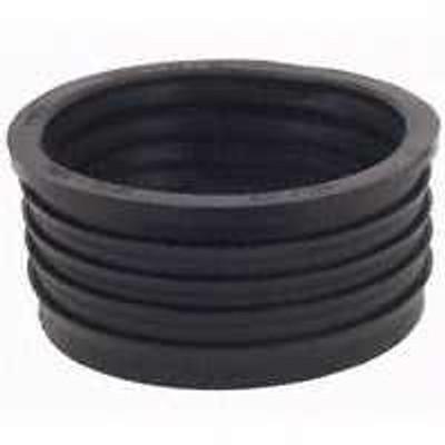 "Fernco 4"" X 2"" Cast Iron To PVC Donut Fitting"
