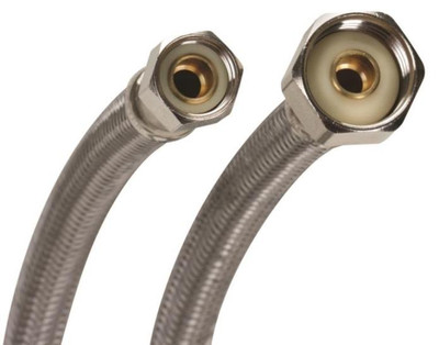 """SS, Toilet Supply Line, 3/8"""" Comp x 7/8"""" FPT, 6"""""""
