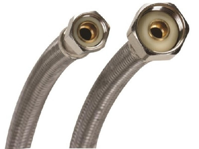 """SS, Supply Line, 3/8"""" Comp x 1/2"""" FPT, 20"""""""