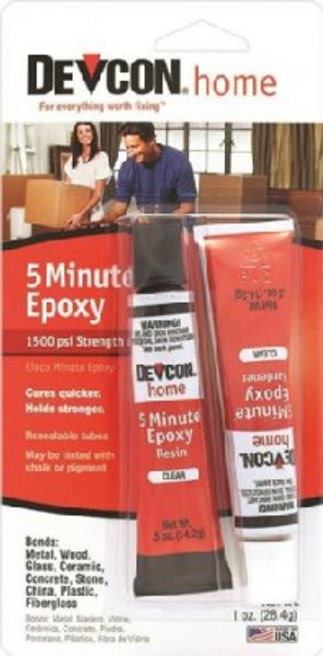 Epoxy 5 Minute 2 Tube Set, Clear, 1 Oz