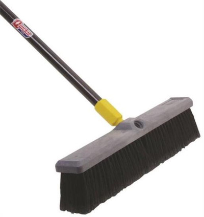 "Push Broom, 18"", Soft Bristle"