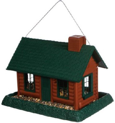 Wild Bird, Feeder, Log Cabin