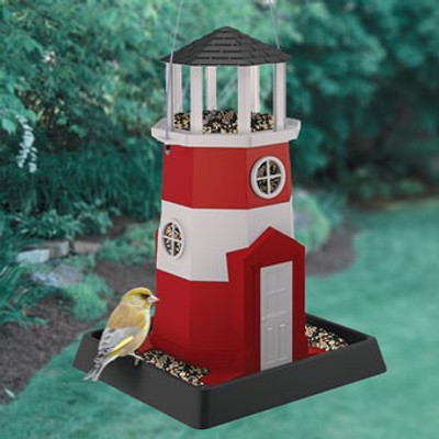 Wild Bird, Feeder, Red Lighthouse