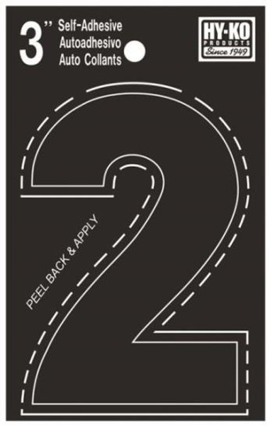 "Boat Number, ""2"", Die Cut, 3"" High"