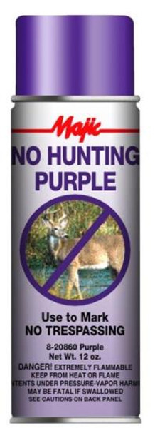 No Hunting Purple Spray Paint