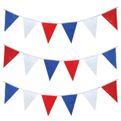 Pennant Flags Red/White/Blue 30'