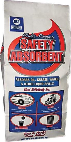 Safety Absorbent, Oil Absortment, 8 Lb Bag