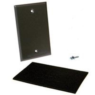 Weatherproof, 1 Gang, Blank Cover Plate, Gray