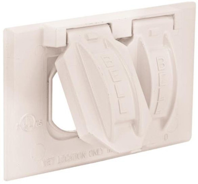 Weatherproof, 1Gang,  Outlet Cover Plate, White