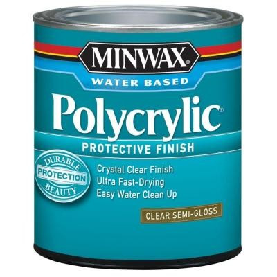 Minwax 64444444 Topcoat Polycrylic Protective Finish Paint, 1 qt Can