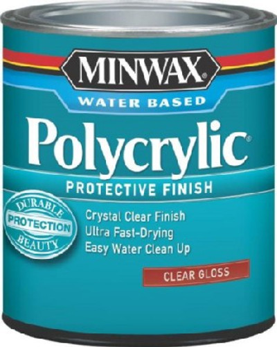 Minwax 65555444 Topcoat Polycrylic Protective Finish Paint, 1 qt Can
