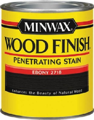 Minwax,Ebony,  Wood Stain, 1/2 Pint