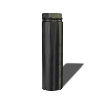 "Stove Pipe, Black, Dbl Wall, 6"" x 24"""