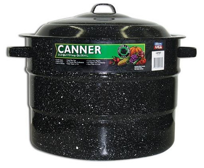 Graniteware, Covered Preserving Canner, 21.5 Quart