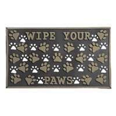 "Door Mat, ""Wipe Your Paws"" Design, 18"" x 30"""
