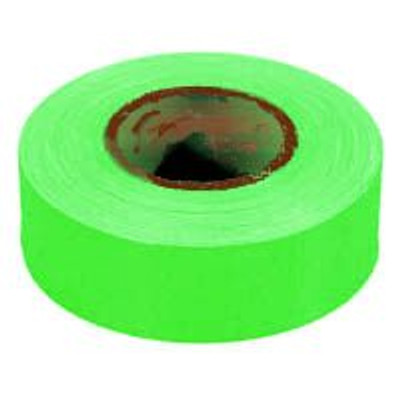 Flagging Tape, Glo-Lime, 150 Ft