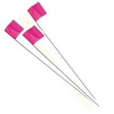 "Stake Flag, Pink, 2.5"" x 3.5"", With 21"" Stake"