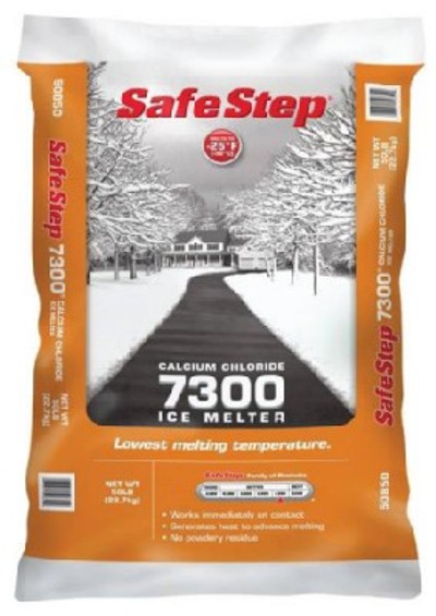 Calcium Chloride Pellet, 50 Lb, Safe Step, 7300 Ice Melter