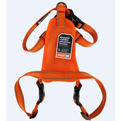 Dog Harness, Neon Orange, Large