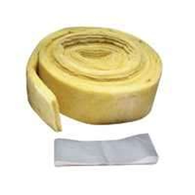 "Pipe Insulation, Wrap Kit, 3"" x 25' x 1/2"", Fiberglass,"
