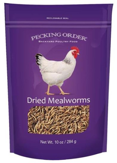 Dried Mealworms, 10 Oz