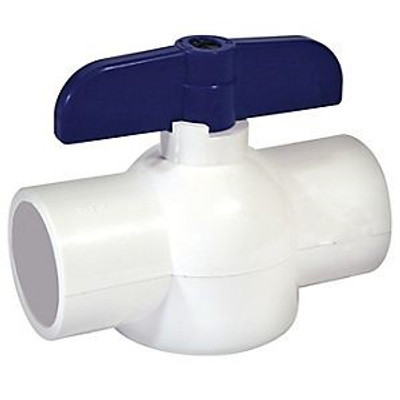 "Ball Valve, 2"", PVC FPT, Low Profile"